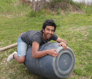 Emre having fun with the barrel