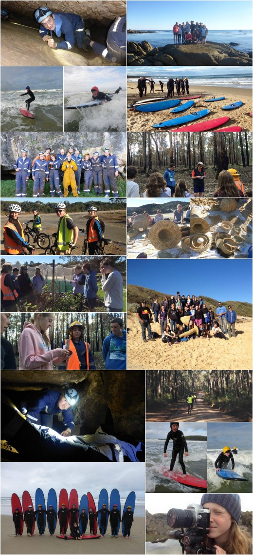 Term 2 Photogallery - caving, bike riding, Indigenous talk, enviro tour, girls photography and surfing