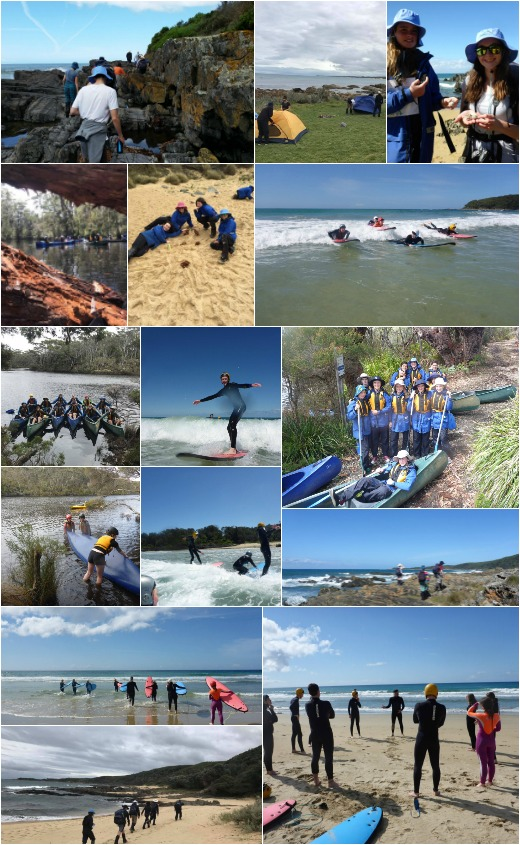 Surfing, Canoeing and Expo Skills - Term 4 2017